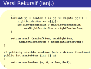 recursive mcss2