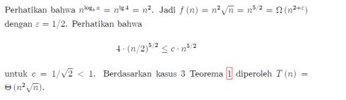 solusi master theorem 5