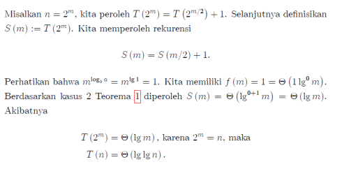 solusi master theorem 6
