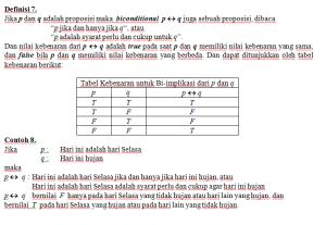 tabel kebenaran bi-implikasi